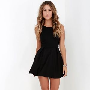 Lulu's black skater mini dress